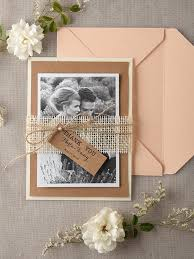 Personalised Wedding Thank You Card Set Of 20 Rustic Cards Peach Craft Eco Chick