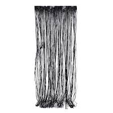 8ft Christmas Tree Ebay by 3ft X 8ft Black Metallic Fringe Tinsel Foil Photobooth Curtain