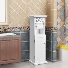 costway toilettenschrank mit toilettenpapierhalter