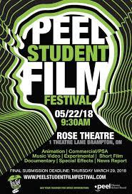 2018 Peel Student Film Festival Poster