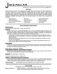 Resume Examples For Pacu Nurse With Create Perfect