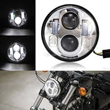 Harley Davidson Light Fixtures by 2017 5 75 Inch Headlight Bulb 5 3 4 High U0026 Low Beam Led Headlamp