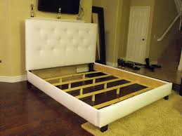 King Platform Bed With Tufted Headboard by King Size Bed Frame With Headboard Decofurnish