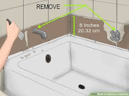 Tiling A Bathtub Alcove by How To Replace A Bathtub 11 Steps With Pictures Wikihow