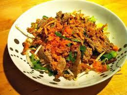 recette de salade de boeuf à la thailandaise