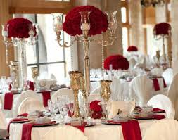Gold Wedding Reception Ideas Christmas White And Red Decorations Picture