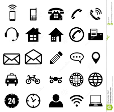 Contact Icon Collection For Business Stock Vector Illustration