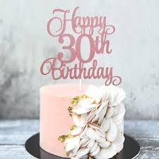 3 stücke 30 geburtstag kucehn topper happy 30th birthday kuchen cupcake topper picks glitzer kuchen dekoration für 30 geburtstag zubehör