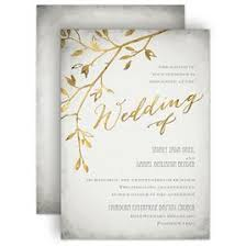 Autumn And Fall Wedding Invitations Leaves Of Gold Invitation