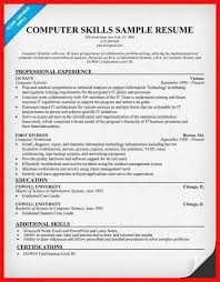 computer skills resume level 261092533823 culinary resumes word work experience on resume
