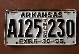 1955 ARKANSAS TRUCK License Plate - $9.50 | PicClick