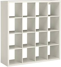 ikea expedit kallax shelving unit bookcase storage home furniture white 4x4 large square unit