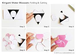 Science For Kids Kirigami Water Blossoms Steps