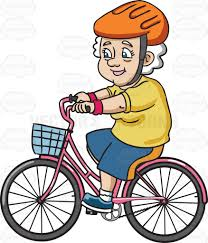A Female Senior Citizen Looking Sporty While In Bike