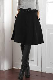 winter new flare pleated skirt saias femininas solid color fashion