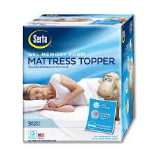 serta 3 inch deep pocket gel memory foam mattress topper