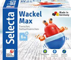 selecta babywelt holz wackel max tierisches stehaufmännchen 61066