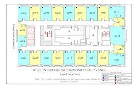 C Floor Plans by Warren Towers Floor Plans Housing Boston