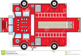 Fire Truck Cutout Stock Vector. Illustration Of Child - 43248711