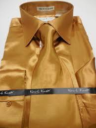 mens karl knox shiny copper golden brown silky satin formal dress