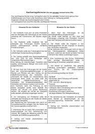 kfz kaufvertrag pdf