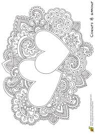 Heart Mandala Coloring Pages