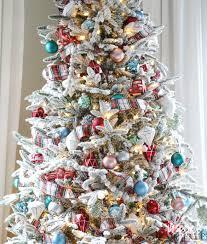 Pre Lit Flocked Christmas Tree by Fun Festive And Flocked Christmas Tree Inspired By Charm