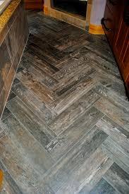 marvelous grey laminate wooden herringbone tile floor with brown
