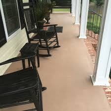Rust Oleum Decorative Concrete Coating Slate by Concrete Patio After Painted With Behr Granite Grip Paint My Diy