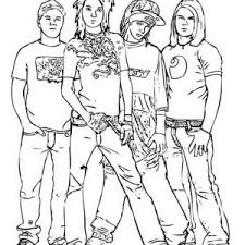 High School Musical Boyband Coloring Page