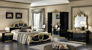 barock schlafzimmer set schwarz gold hochglanz klassische