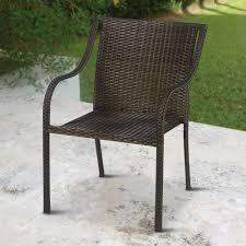 The Stackable Outdoor Wicker Chairs Hammacher Schlemmer