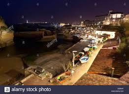 port des pecheurs biarritz view of harbour in the evening port des pecheurs biarritz cote