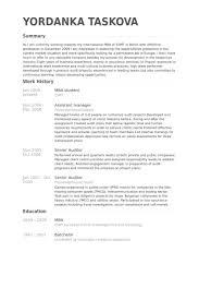 Mba Student Resume Samples Visualcv Database