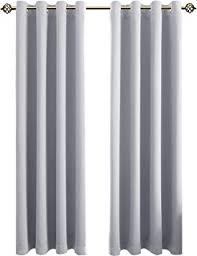 floweroom blickdichte gardinen verdunkelungsvorhang lichtundurchlässige vorhang mit ösen für schlafzimmer geräuschreduzierung grau weiß
