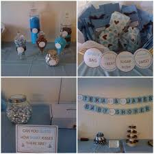 Boy Babyshower Its A Boy Blue Brown White Baby Shower