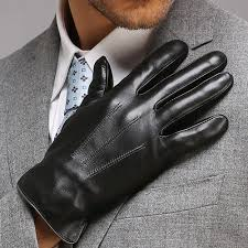 high quality genuine leather men gloves autumn and winter thicken