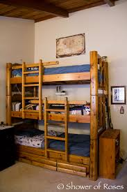 Jeromes Bunk Beds by Shower Of Roses The Boys U0027 Bedroom And Triple Bunk Bed