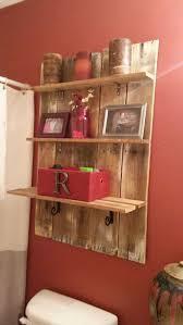 DIT Pallet Wood Shelf Over The Toilet For Rustic Bathroom Decor Istandarddesign Idea Via Pinterest