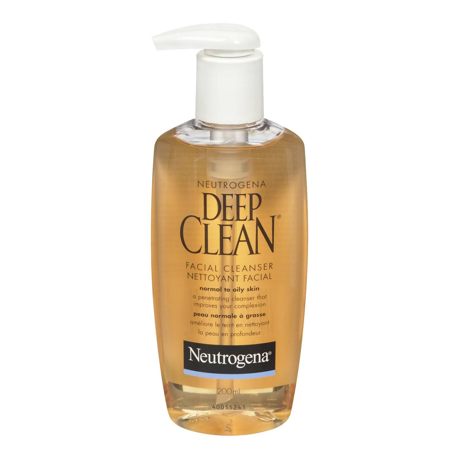 Neutrogena Deep Clean Face Wash Oil Free Facial Cleanser - 200ml