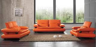 Leather Orange Sofa Sectional County Furniture Repair Corner