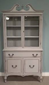this is a darling duncan phyfe china hutch i painted it escape