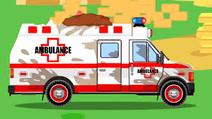 100 Trucks Cartoon White Ambulance Car Rescue In The City W Tow Truck Animation Cars