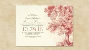 Watercolor Oak Tree Invites