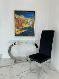 designer barock essstuhl esszimmer weiss schwarz grau