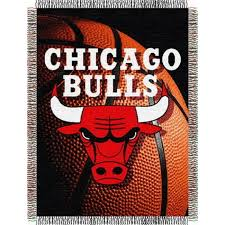 chicago bulls nba photo real tapestry throw by the northwest at