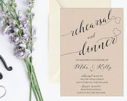 Rustic Rehearsal Dinner Invitation Printable Kraft Invite Vintage Wedding