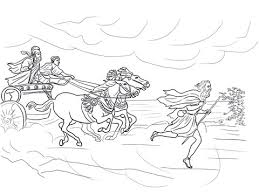 Click To See Printable Version Of Elijah Runs Away From Jezebel Coloring Page