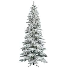 Flocked Artificial Pre Lit Christmas Trees by Flocked And Frosted Trees U2013 Bulbamerica