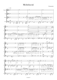 misbehavin pentatonix sheet for piano and keyboard